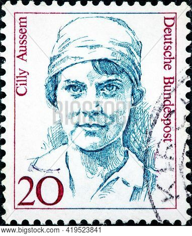 Germany - Circa 1988: A Stamp Printed In Germany From The