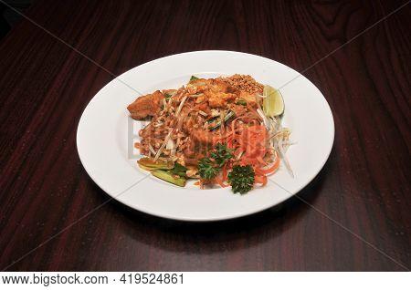 Delicious Thai Cuisine Dish Known As Drunken Noodles