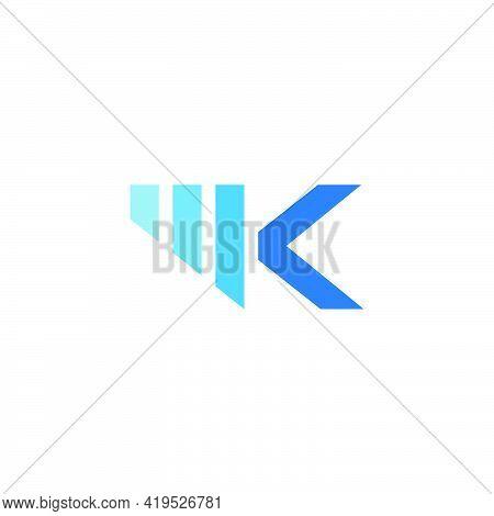 Letter M K Motion Geometric Logo Vector