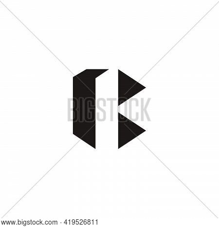 Letter B Geometric Simple  Triangle Basic Shape Logo Vector