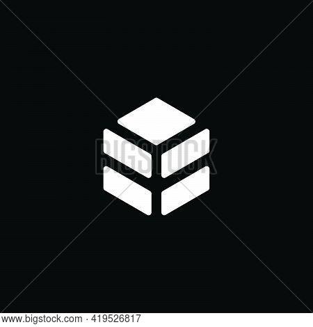 Simple Hexagonal Flat Building Roof Geometric Logo Vector