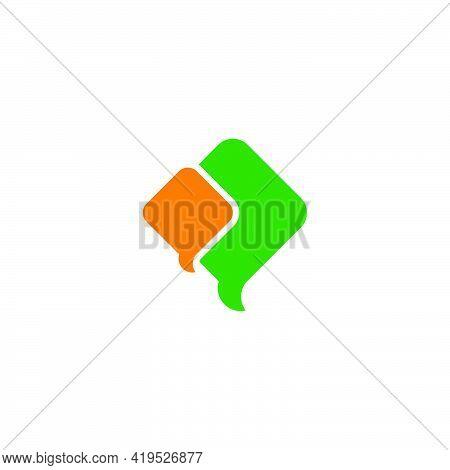 Simple Flying Kite Geometric Colorful Design Logo Vector