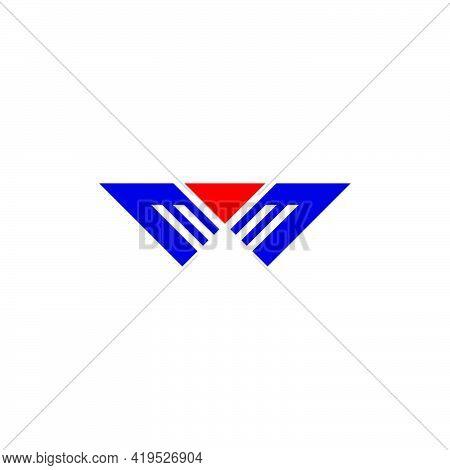 Wings Eagle Letter M Hero Concept Logo Vector