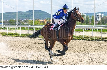 Pyatigorsk,russia - May 2,2021:horse Race For Of The  Prize In Honor Of The Spring And Labor Holiday