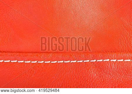 Leather Texture, Orange Background Skin Abstract Fone