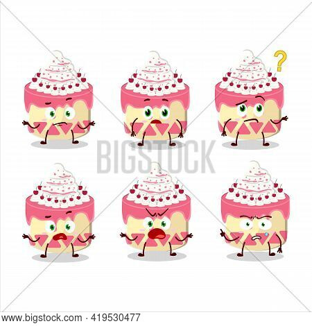 Cartoon Character Of Sweety Cake Cherry With What Expression