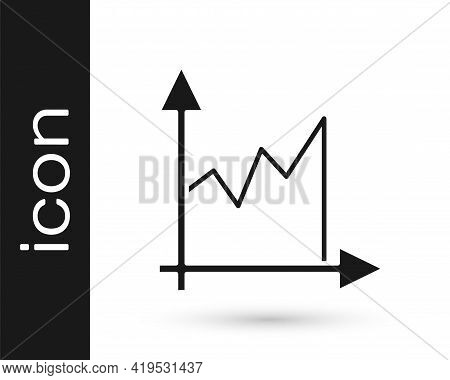 Black Graph, Schedule, Chart, Diagram, Infographic, Pie Graph Icon Isolated On White Background. Vec