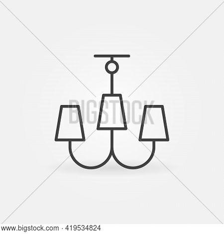 Chandelier Linear Vector Concept Icon Or Symbol
