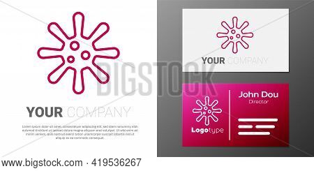 Logotype Line Bacteria Icon Isolated On White Background. Bacteria And Germs, Microorganism Disease