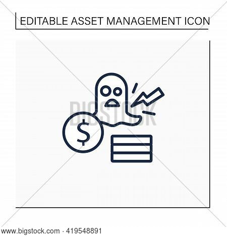 Remove Line Icon. Removing Ghost, Inactive Assets. Not Physically Accounted In Workplace. Asset Mana