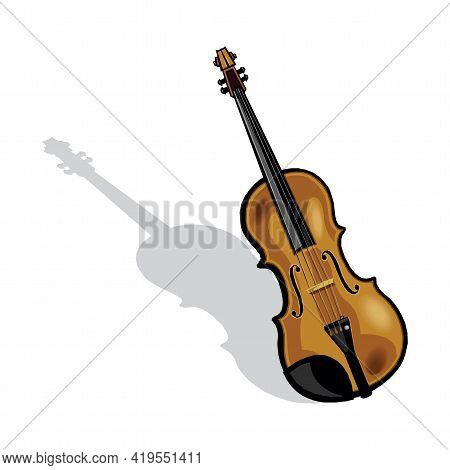 Violin Vector Illustration Isolated On A White Background In Eps10