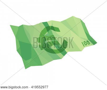 European currency note euro banknotes. Money  illustration. Investment capital wealth savings or financial prosperity symbol. Paper money