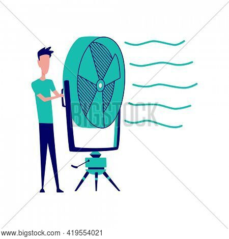 Special effects for superhero films. Scenery for movie shooting and production process. Movie making, cartoon characters in stages of film production shooting in studio