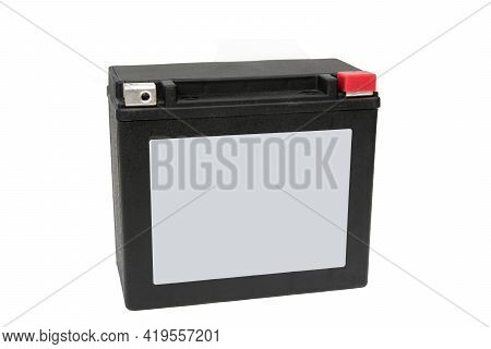 Rechargeable Starter Lead-acid Battery For Motorcycle, Jetski Or Snowmobile. Positive Terminal Is Sh