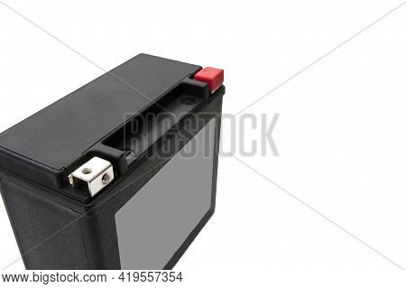 Photo Of Rechargeable Starter Lead-acid Battery For Motorcycle, Jet Ski Or Snowmobile. Positive Term