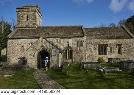 Historic Church In The Small Hamlet Of Swainswick In The Cotswolds Near Bath, Somerset, United Kingd