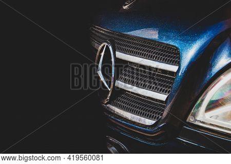 Chernihiv, Ukraine - May 1, 2021: Mercedes-benz Ml W163 In The Shade. Mercedes Suv