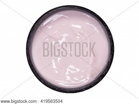 Creamy Pink Lotion Isolated On A White Background
