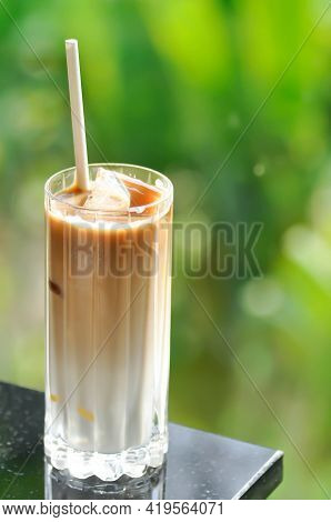 Coffee , Iced Coffee Or Iced Latte Coffee For Serve