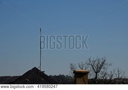 Lightning Rod For Lightning Rod Always Mounted On The Highest Point Of The Building. The Highly Cond