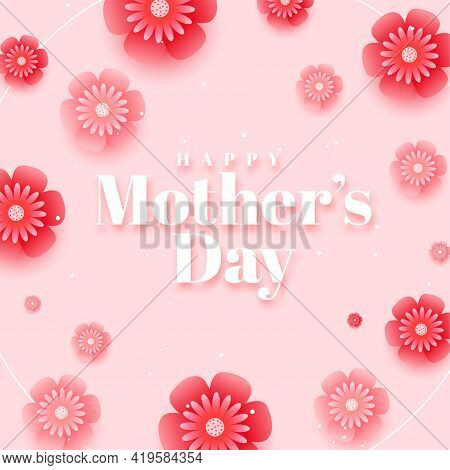 Beautiful Happy Mothers Day Background Vector Template Design