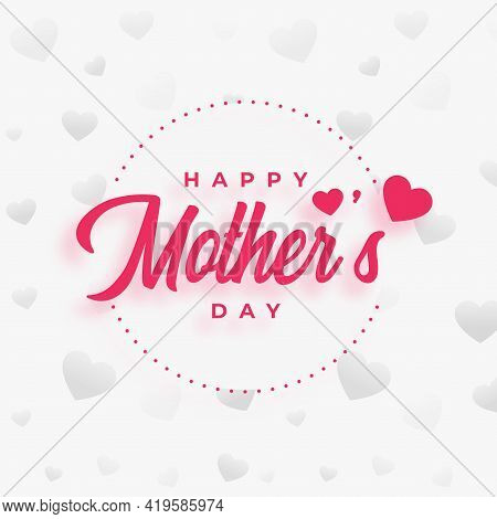 Mothers Day Poster Design Wishes Background Vector Template Design