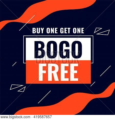 Buy One Get One Bogo Sale Abstract Background