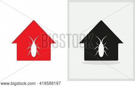 Seed Insect House Logo Design. Home Logo With Seed Insect Concept Vector. Seed Insect And Home Logo
