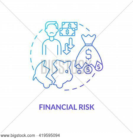 Financial Risk Concept Icon. Purchase Risk Factor Idea Thin Line Illustration. Affecting Income Sour