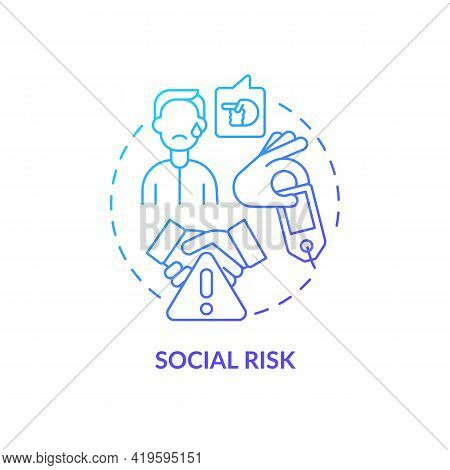 Social Risk Concept Icon. Purchase Risk Factor Idea Thin Line Illustration. Purchasing New Trending