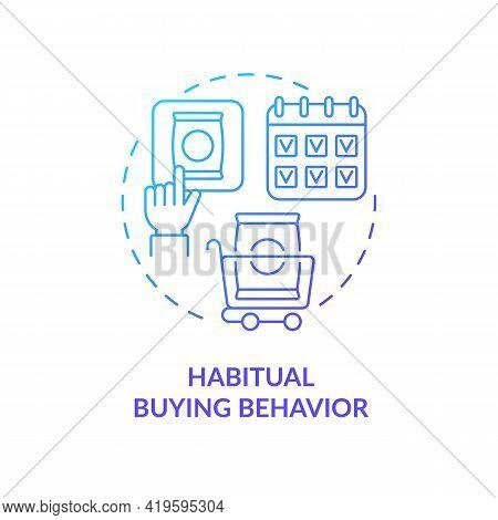 Habitual Buying Behavior Concept Icon. Consumer Behavior Idea Thin Line Illustration. No Brand Loyal