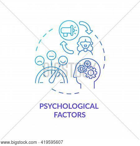 Psychological Factors Concept Icon. Purchase Decision Factor Idea Thin Line Illustration. Beliefs An