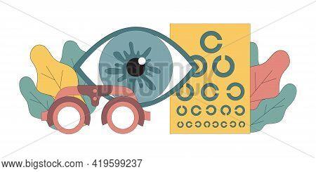 Ophthalmology. Optometry For Glasses. Myopia, Hyperopia. Eye Treatment