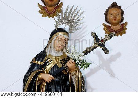 Statue Of Santa Rita De Cassia - Rita Of Cascia - Saint Of Catholic Religion