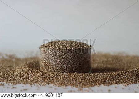 A Spread Of Paspalum Scrobiculatum Grains, Commonly Called Koda Millet