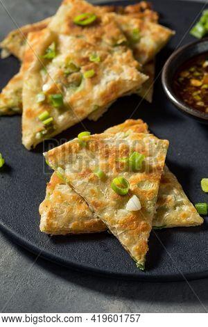 Homemade Chinese Scallion Pancake