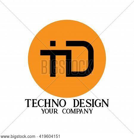 T D Letter Logo Business. T D Logo Technology