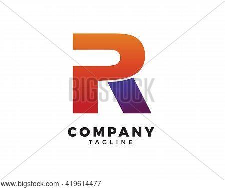 Pr Letter Initial Logo Design Vector Template