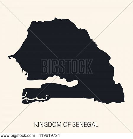 Highly Detailed Senegal Map With Borders Isolated On Background. Flat Style