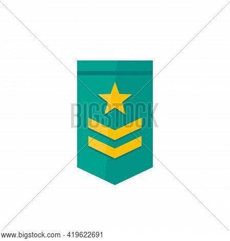 Military Rank Vector Icon, Two Stripes And Star