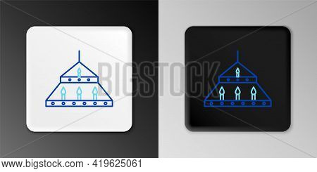Line Massive Steel Chandelier With Candles In Medieval Icon Isolated On Grey Background. Colorful Ou