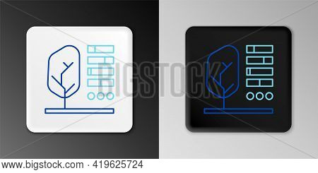 Line Plant Status Icon Isolated On Grey Background. Colorful Outline Concept. Vector