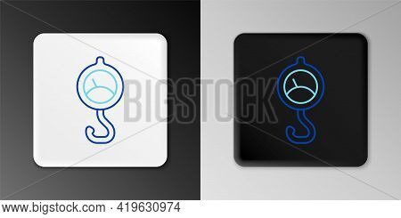 Line Spring Scale Icon Isolated On Grey Background. Balance For Weighing. Determination Of Weight. C