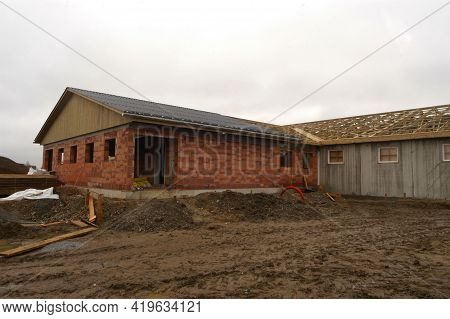 Industrial Brick Building And Industrial Architecture For Mass Production Of Goods