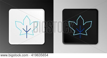 Line Canadian Maple Leaf Icon Isolated On Grey Background. Canada Symbol Maple Leaf. Colorful Outlin