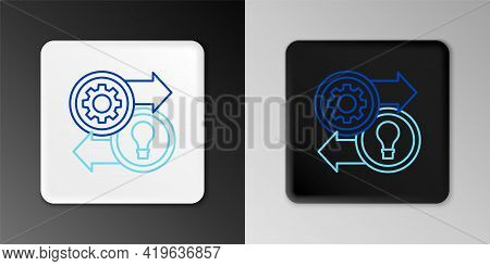 Line Human Resources Icon Isolated On Grey Background. Concept Of Human Resources Management, Profes