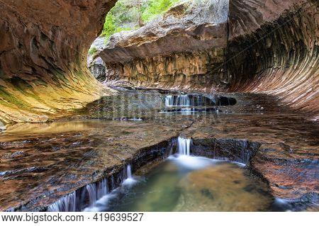 The Subway Zion National Park Utah Mighty Five  Utah