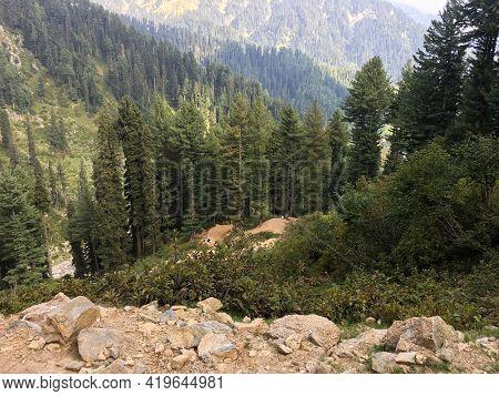 Beautiful View Of Gabbin Jabba Valley In Swat Pakistan