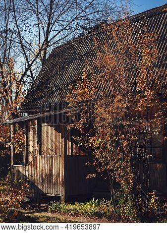 Chernousovo Village, Sverdlovsk Region, Russia, October 04, 2020: House In The Village.