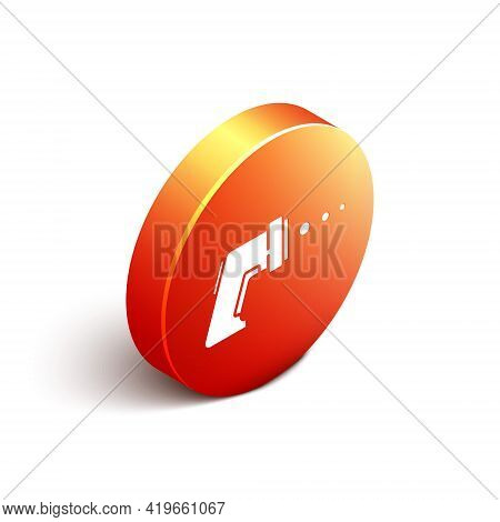 Isometric Digital Contactless Thermometer With Infrared Light Icon Isolated On White Background. Ora